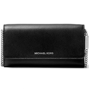 ✨NEW✨Michael Kors Leather Convertible Chain Wallet